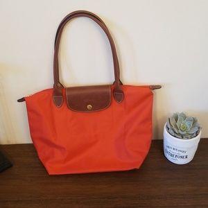 Longchamp Small Le Pliage Tote (Poppy Orange)